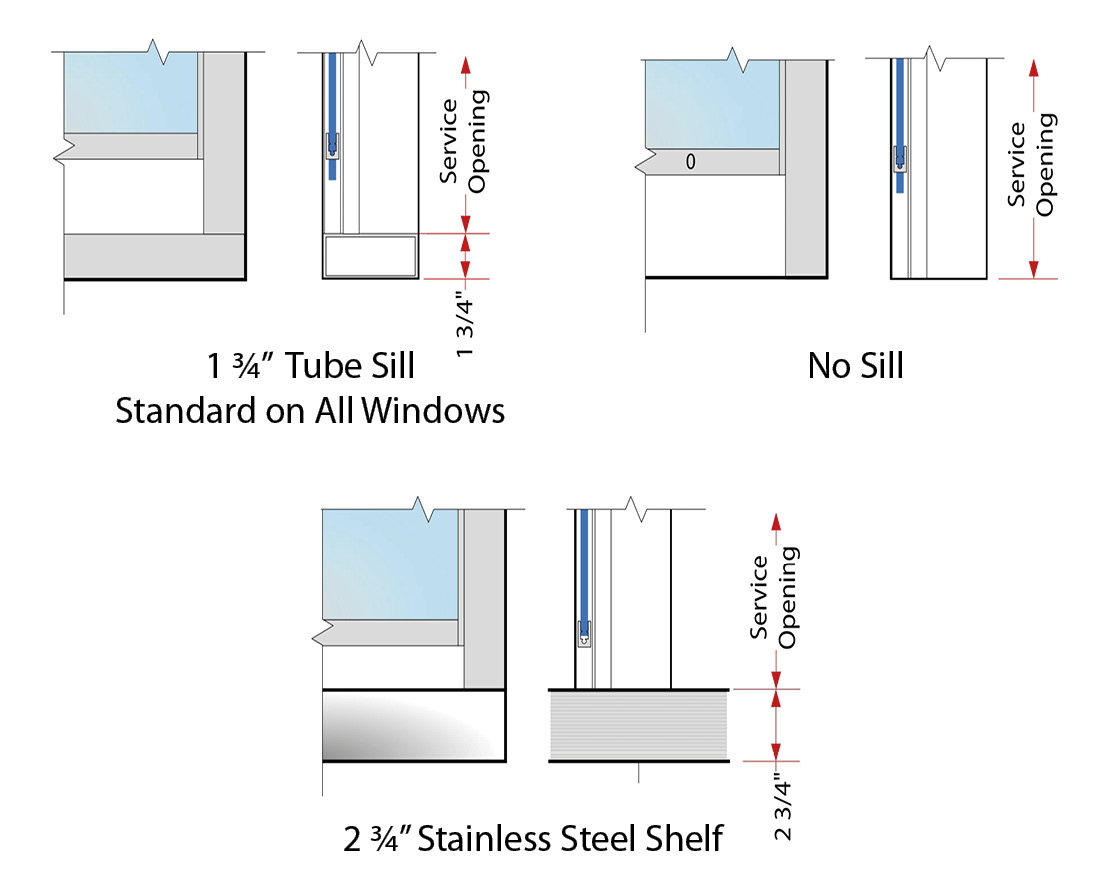SUI Series Sill Options